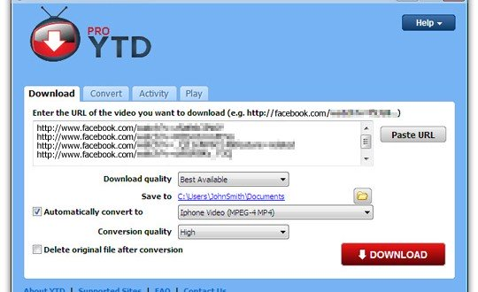 screenshot YTD Video Downloader